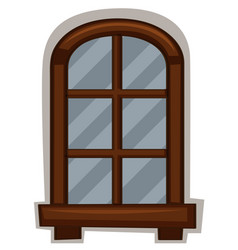 new window with round frame vector image