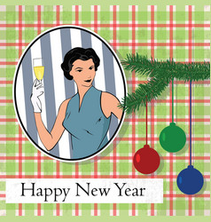 new year old greeting card vector image