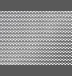 Perforated silver metalic background vector