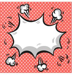 Pop art comic exploding background vector