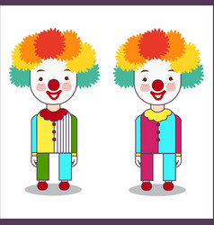 portrait of clown isolated on white background vector image