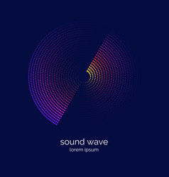 poster of the sound wave music on vector image
