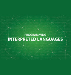 Programming interpreted languages concept vector