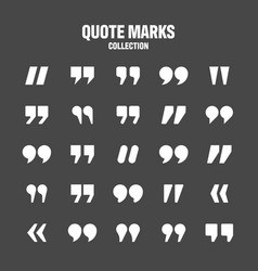 Quotation marks collection white quotes vector