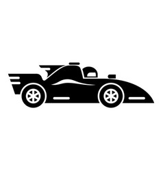 Racing car icon simple black style vector