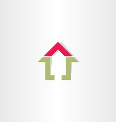real estate home sign vector image