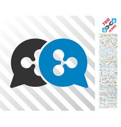Ripple bids flat icon with bonus vector