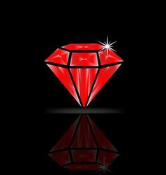 ruby diamond isolated vector image
