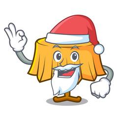 Santa table cloth mascot cartoon vector