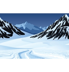 Seamless background with winter landscape vector