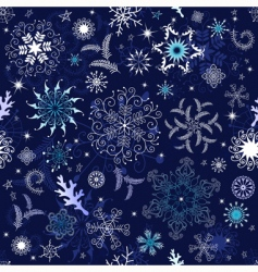 seamless dark blue Christmas wallpaper vector image