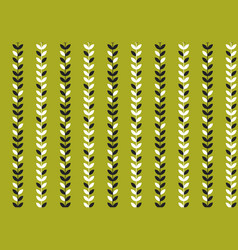 simple flat tropical pattern in green color vector image