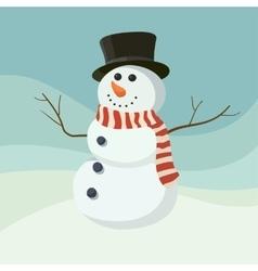 Snowman icon flat helper Snowman icon face vector