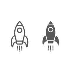 startup line and glyph icon development vector image