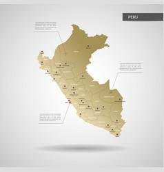 Stylized peru map vector