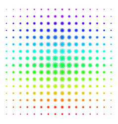 sun shape halftone spectrum effect vector image