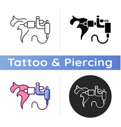 tattoo machine icon vector image