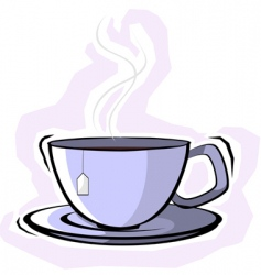 teacup with saucer vector image