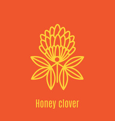 Thin line icon honey clover vector