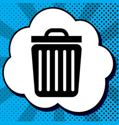 Trash sign black icon in vector