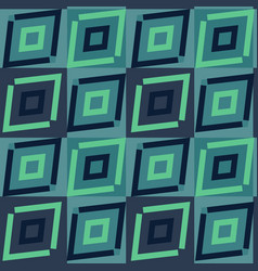 Turquoise ethnic geometric pattern vector