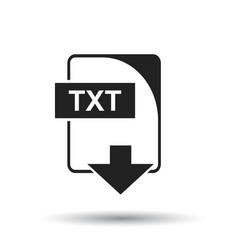 txt icon flat txt download sign symbol with vector image