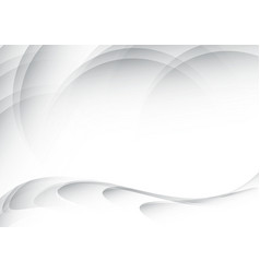 White waves abstract background vector