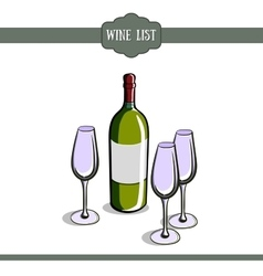 WIneCard2 vector image