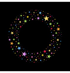 Wreath of Multicolored Stars vector