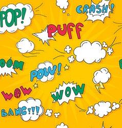 Comics pop art style pattern blank layout template vector image