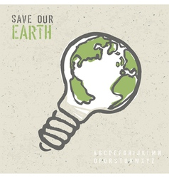 global ecology concept vector image