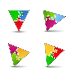 Puzzle Triangles vector image vector image