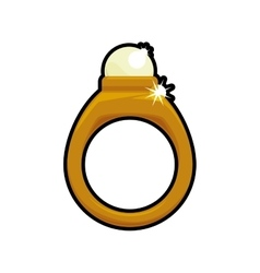 Ring accesory gold jewelry icon graphic vector image