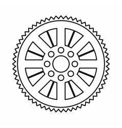 Sprocket from bike icon outline style vector image vector image