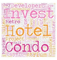 The Condotel Investment Opportunities text vector image vector image