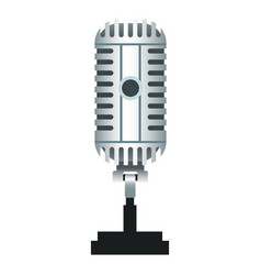 vintage microphone isolated realistic icon vector image vector image