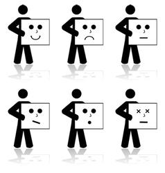 Emotion cards vector image