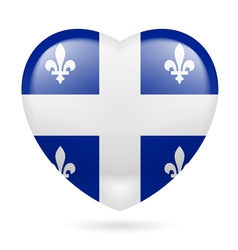 Heart icon of Quebec vector image