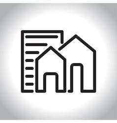 icon real estate vector image