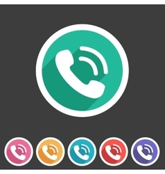 Phone flat icon sign symbol logo label set vector image