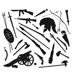 weapons mix vector image vector image