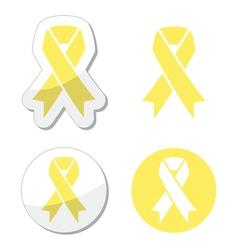 Pale yellow ribbon -ymbol of spina bifida vector image vector image