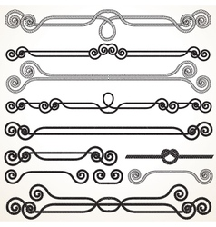Rope Borders and Frames vector image vector image