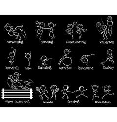 Sports doodle set vector image vector image