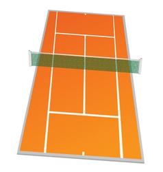 tennis court in orange color vector image