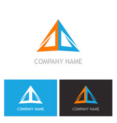 triangle colored company logo vector image vector image