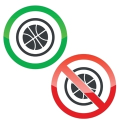 Basketball permission signs vector image