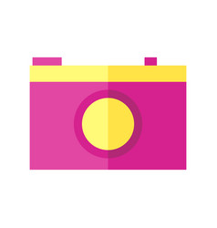 coloured of a camera vector image