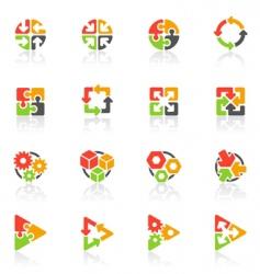 geometrical logo templates vector image vector image