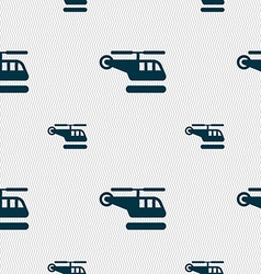 helicopter icon sign Seamless pattern with vector image